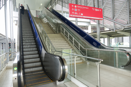 KUALA LUMPUR, 20 APRIL 2018. Train station,KL SENTRAL. A transportation hub in Kuala Lumpur. Redakční