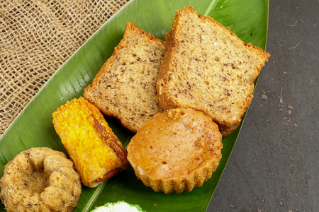 Variaties of traditional local Asian cake.