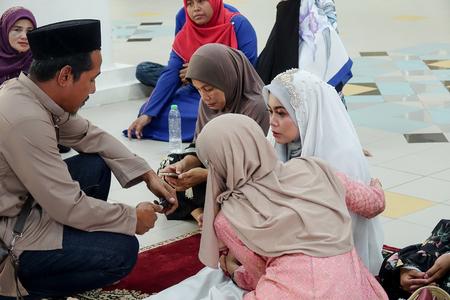 KUALA LUMPUR, 7 JUNE 2019. Muslim solemnisation ceremony held at mosque. Redakční