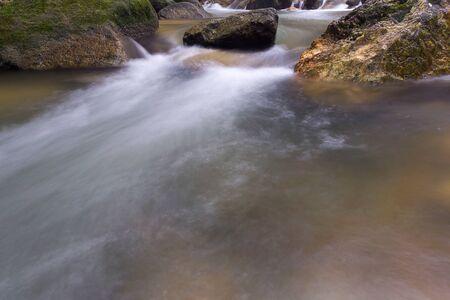 Waterfall/stream in a deep rain forest.