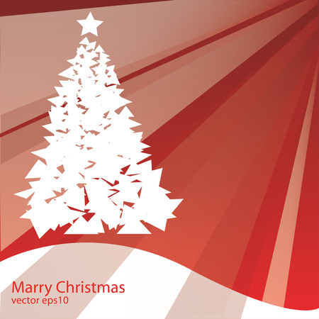 Merry Christmas,Christmas tree vector Vector