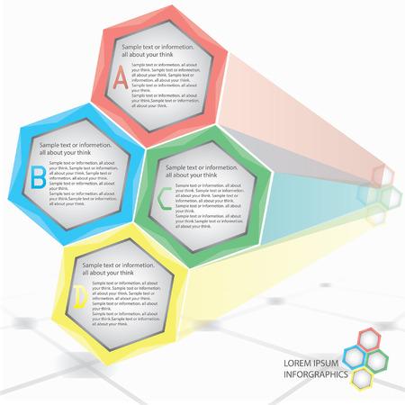 irradiate: informaci�n de nido de abeja, Gr�fico de negocio, momento de la informaci�n Vectores