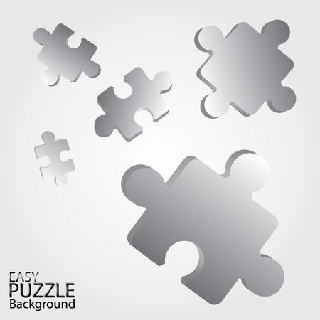 managed: Vector -Puzzle Abstract gray background made from silver puzzle