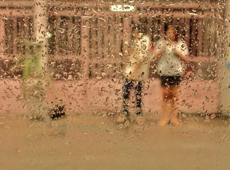 slushy: rain and human photo