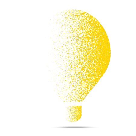 Creative idea design in fading yellow mustard grunge style Illustration