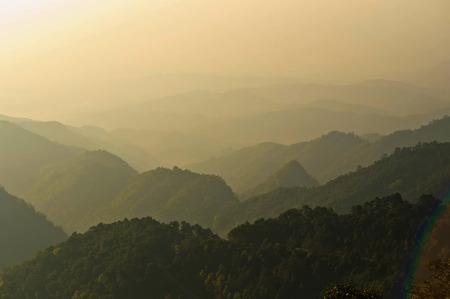Sunrise over the Mountain Range photo