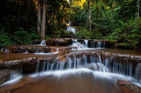 Pha Chareon Waterfall National Park in Thailand photo