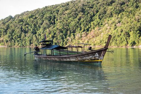 surin: LongTailed Boat at Surin IslandThailand Editorial