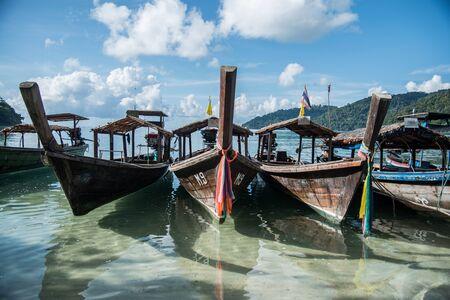 surin: LongTailed Boat at Surin IslandThailand Stock Photo