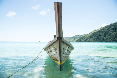 surin: LongTailed Boat at Surin IslandThailand Stock Photo