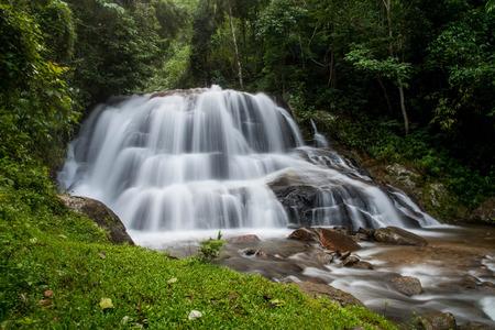 ra: Mae Ra Merng Waterfall - Mae Moei National Park, Tak Province Thailand Stock Photo