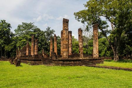 asian architect: Srisatchanalai historical park in Sukhothai province, Thailand