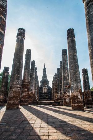 sukhothai: Sukhothai historical park,the old town in Sukhothai province,Thailand Stock Photo