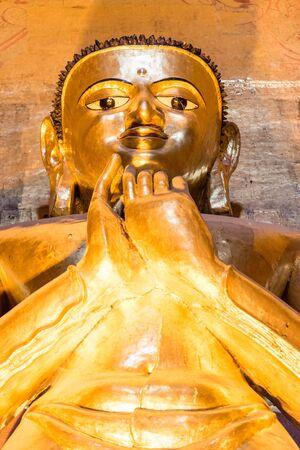 buddha image: Buddha image at Ananda Temple, Bagan, Myanmar