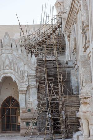 repaired: Ananda Temple were repaired , Bagan, Myanmar,Burmar