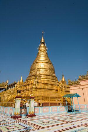 shin: Soon Oo Ponya Shin Pagoda , Sagaing, Mandalay , Myanmar Stock Photo