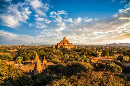 sight seeing: Ancient Temples in Bagan, Myanmar,Dhammayangyi Temple Stock Photo