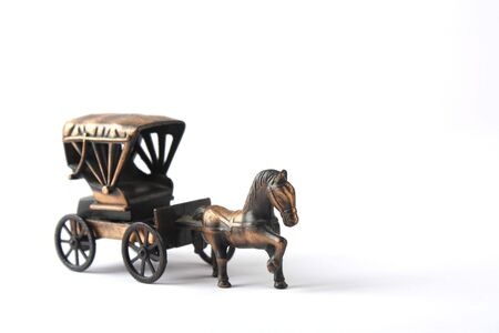 Close up of Toy Carriage with white background Stock Photo