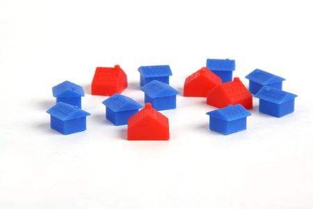 -Show different little house with white background