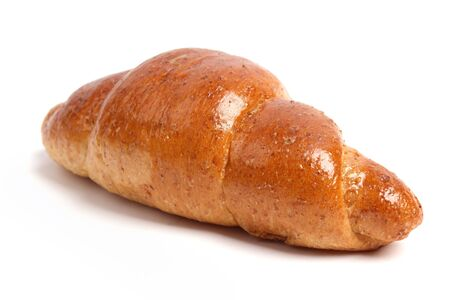 Close up one Bread on a white background