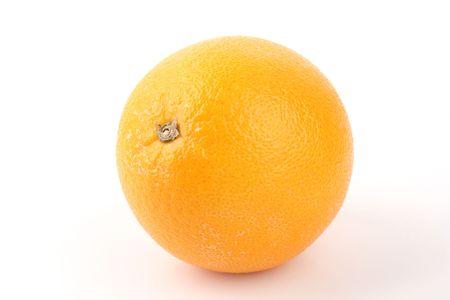 Close up orange isolated on white background Stock Photo