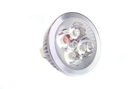 Close up LED Bulb isolated on white background Stock Photo
