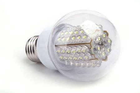 Close up LED Bulb isolated on white background Stock Photo - 8164339