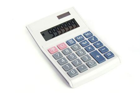 Studio shoot Calculator isolated on white background photo