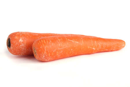 Two carrot isolated on white background Stock Photo