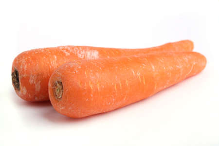 Close up Two Carrot isolated on white background