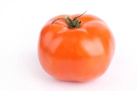 Close up tomato isolated on white background
