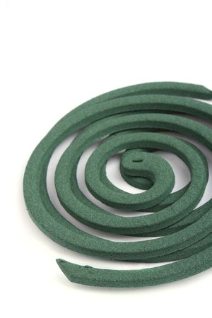 Part of mosquito coil isolated on white background Stock Photo - 8247586