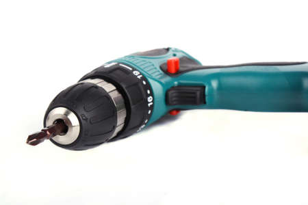 Close up Cordless Drill Isolated on white background Stock Photo - 8247634