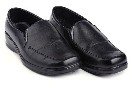 Close up  leather shoe isolated on white background Stock Photo