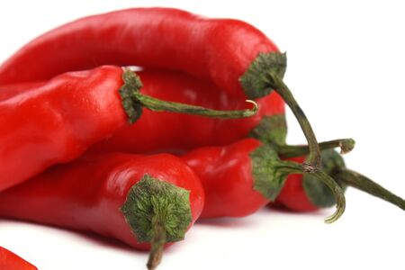close up Red chili pepper isolated on white background