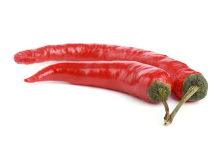 Close up Red chili pepper isolated on white background Stock Photo