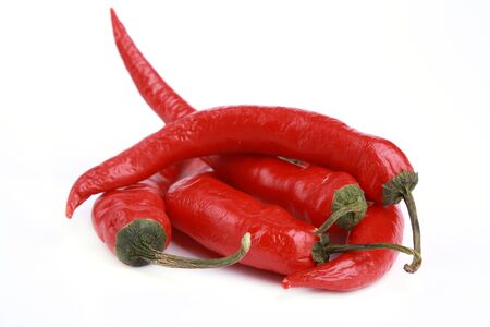 Red chili pepper isolated on white background Stock Photo