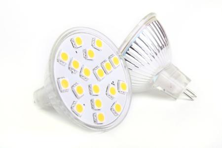 Two LED Bulb isolated on white background Stock Photo