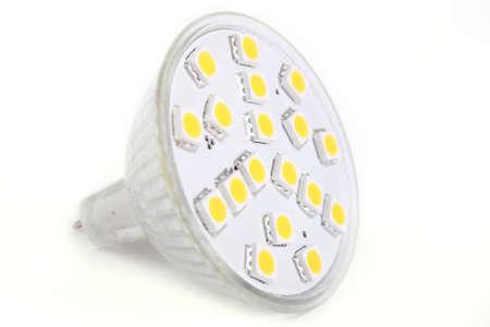 LED lights blub isolated on white background