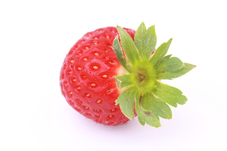 One strawberry isolated on white background Stock Photo