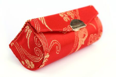 Close up Chinese traditional wallets isolated on white background