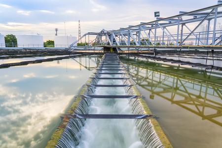 El proceso de recirculación de fangos Sólido Tipo de contacto del tanque clarificador en la planta de tratamiento de las aguas