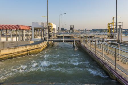 L'apport de l'eau brute dans la station d'épuration