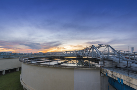 blackwater: Water Treatment Plant at sunrise