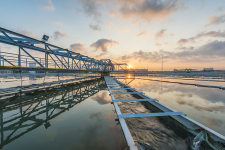 sludge: The Solid Contact Clarifier Tank type Sludge Recirculation process in Water Treatment plant with Sunrise