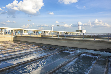 water purification plant: Backwash Process in Water Treatment Plant