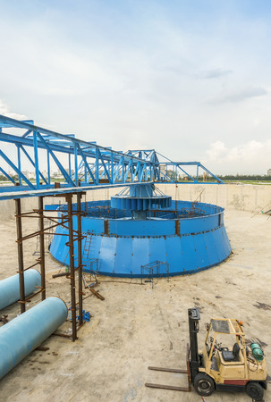 construction plant: construction site of water treatment plant