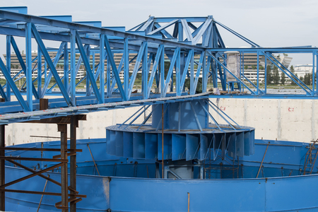 water treatment plant: construction site of water treatment plant