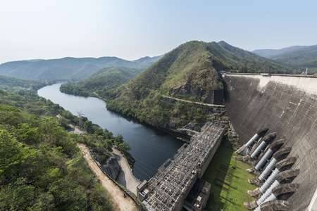 hydro electric power station: bhumiphol dam, Tak, thailand Stock Photo