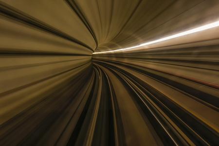 MRT Train In Tunnel